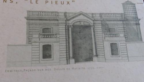 le pavillon de l'Ermitage, vestige du château de Bagnolet