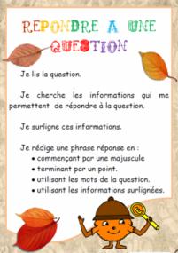 Répondre à une question, lire, lecture stratégie, Cp, Ce1, Cycle2, dixmois