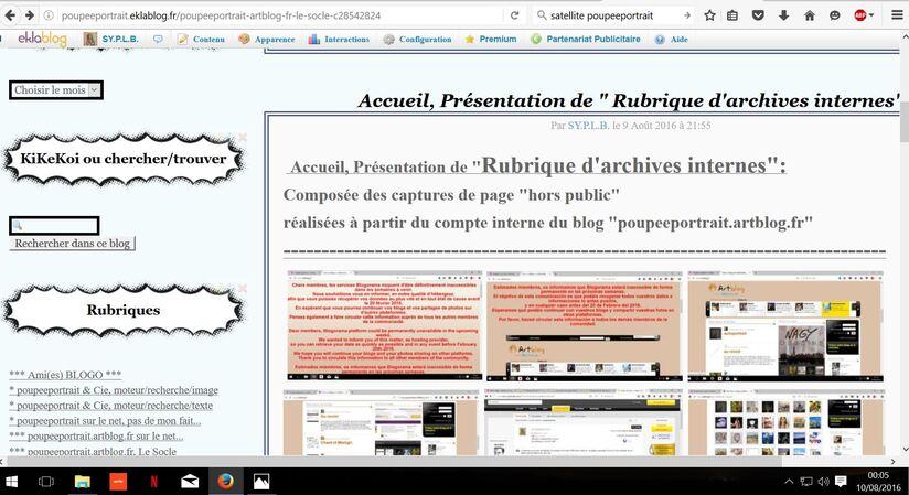"""** Annonce d'une nouvelle rubrique sur """"Satellite Poupéeportrait"""", mon autre blog..."""