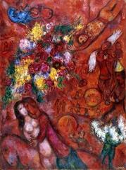 Espectacular Marc Chagall. Thyssen-Caja Madrid Febrero-Mayo 2012. Le cirque rouge 1956-60