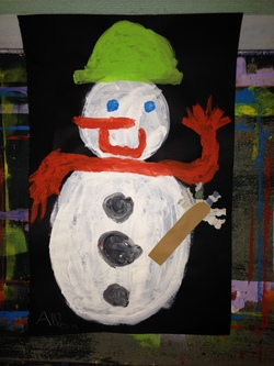 Bonhommes de neige des CE1