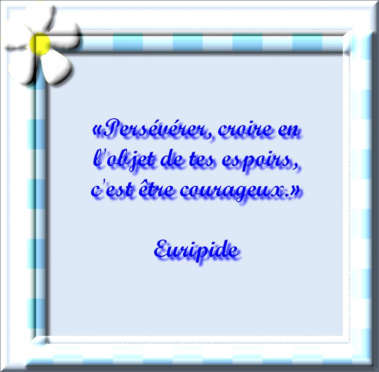 Citations 2:  Citation d'Euripide - La Force de Réussir avec texte