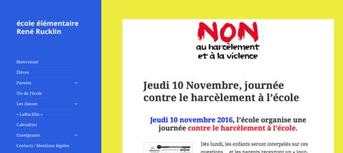 Jeudi 10 novembre, journée contre le harcèlement à l'école