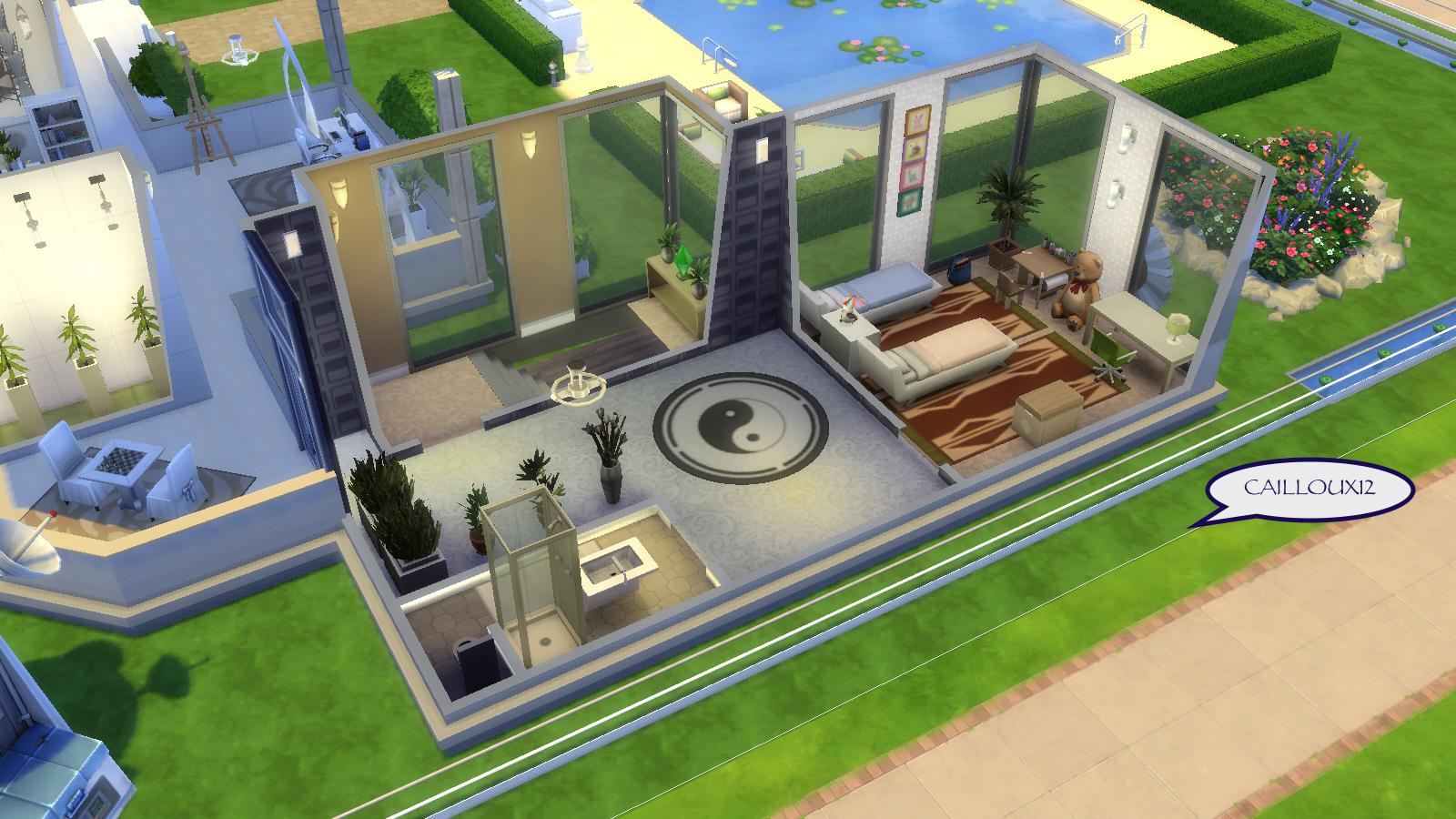 Les sims 4 créations et rénovations maisons par cailloux 12   sims ...