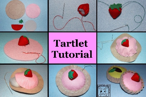 felt, tartlet, tutorial, handicraft