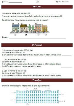 Problèmes Belle Rue / Friandises / Devinettes