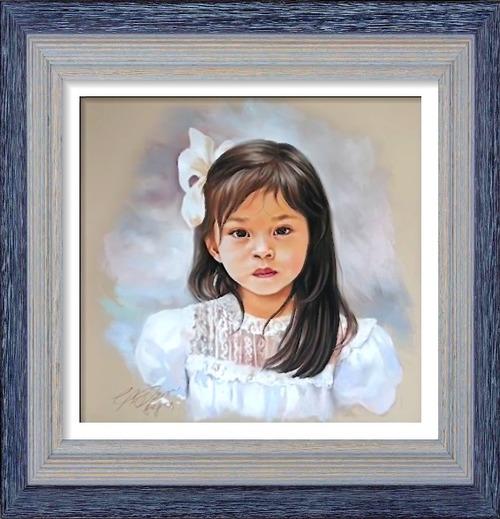 Dessin et peinture - vidéo 2546 : Comment dessiner et réaliser un portrait en peinture ? - crayon noir et crayon pastel.