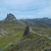 De la Peña Blanca, le pic du Midi d'Ossau, la Pène de la Glère, le Lurien
