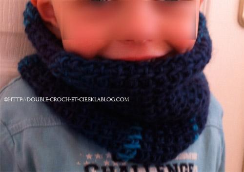Ensemble bonnet/ snood enfant 1