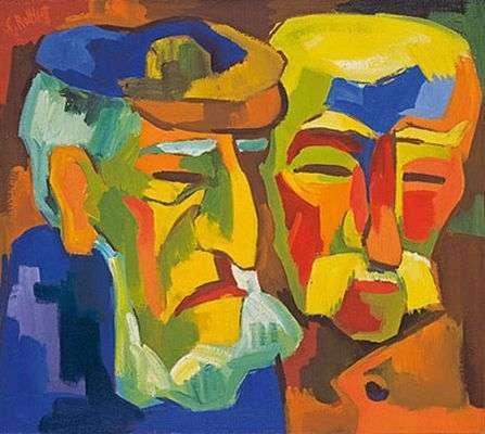 Deux paysans, par Schmidt-Rottluff
