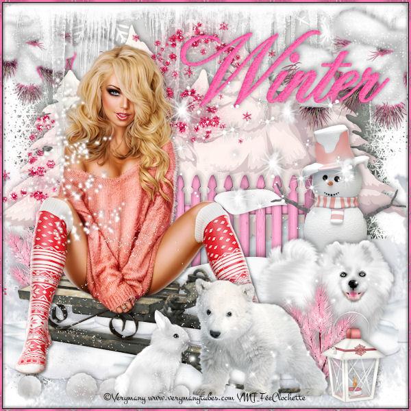 Pink winter nature