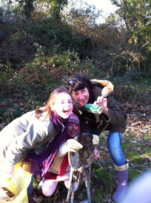 cueillette avec Babeth, Louise, Delphine et Lily