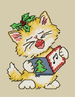 Cartes de Noël chats 3 et 4.