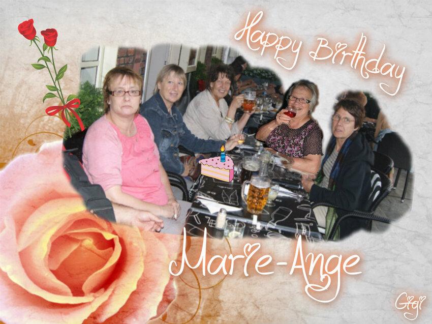 HEUREUX ANNIVERSAIRE A NOTRE AMIE MARIE-ANGE