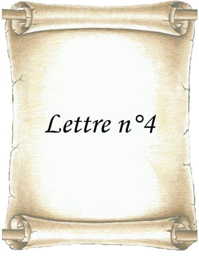 Lettre n°4