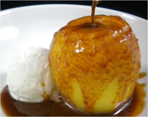Pommes au caramel laitier (recette de Laurent Mariotte)