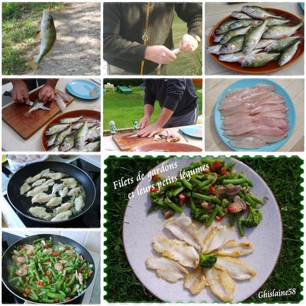 Filets de gardon et poêlée de légumes