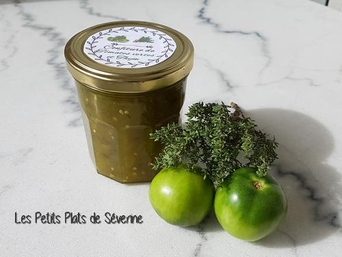 Confiture de tomates verte au thym au Tmix