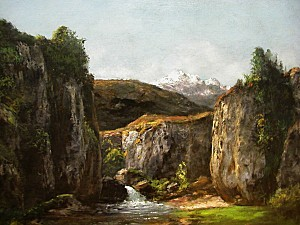 Gustave Courbet - Paysage compose avec source