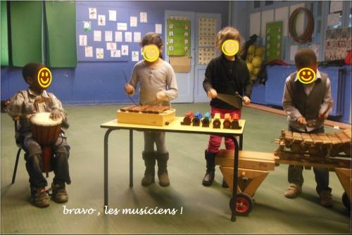 Métalophone et xylophone