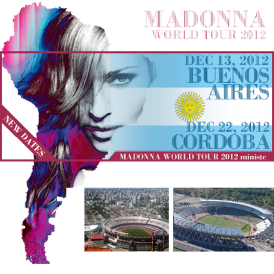 MDNA Tour - New dates in Argentina