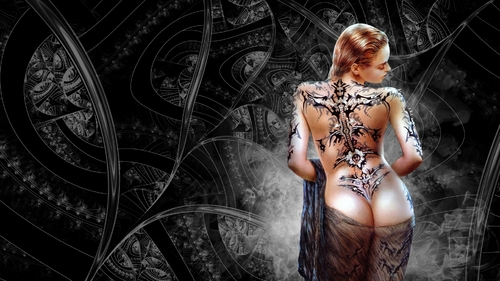 Fond femme tatouée