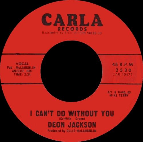 "Deon Jackson : Album "" Love Makes The World Go Round "" Atco Record SD 33-188 [US ]"
