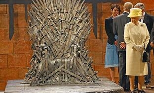 http://www.ew.com/article/2014/06/24/queen-elizabeth-ii-visits-the-game-of-thrones-set-actual-monarch-doesnt-sit-on-pretend-seat-of-power