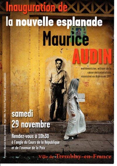 Inauguration d'une Esplanade Maurice Audin à Tremblay-en-France