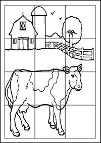 puzzles dessin animaux