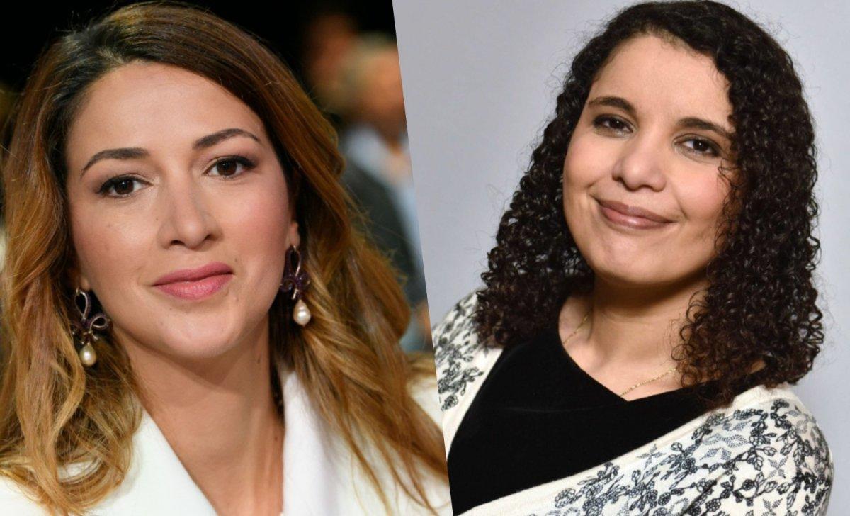 À gauche Zineb El Rhazoui, à droite Fatiha Boudjahla 2019