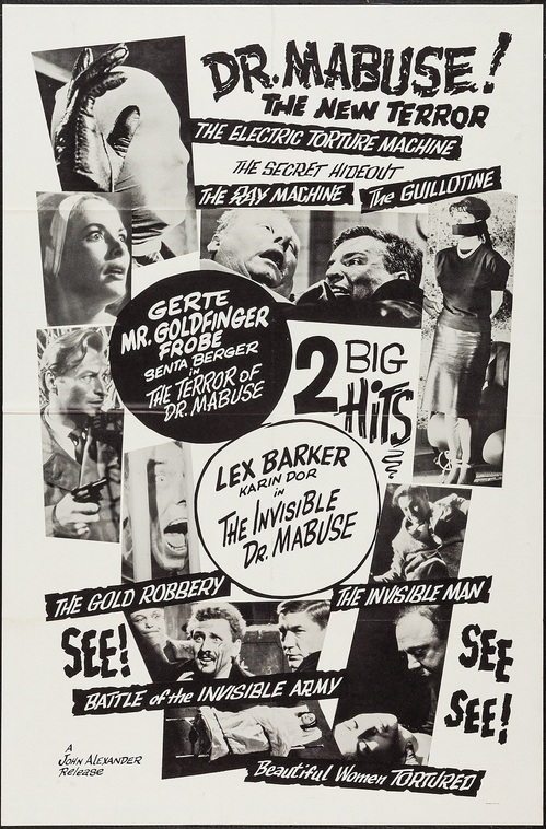 THE TERROR OF DOCTOR MABUSE box office usa1965
