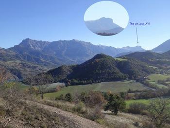 Vue vers l'amont de la vallée de l'Ubaye