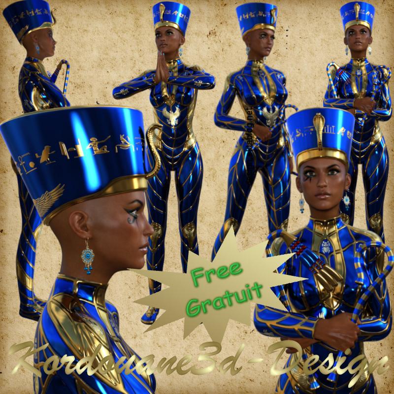 Tube de Néfertiti (render-poser-image)