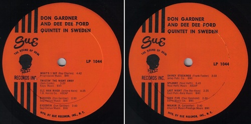 DON GARDNER & DEE DEE FORD - QUINTET IN SWEDEN