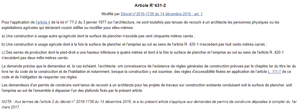 Recours Architecte Rf64