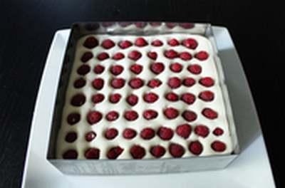 Recette de cuisine : Tiramisu aux framboises