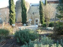 Chabrillan - Jardin botanique - Fortifications Ouest - CaféBibliothèque - décembre 2015