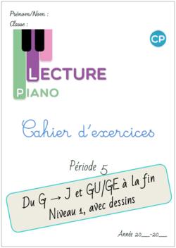 Cahier d'exercices Piano de la P5