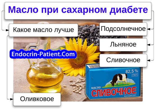 Масла при диабете 2 типа