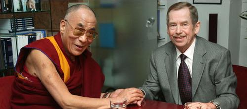 Václav Havel et le Dalaï-lama, 2011