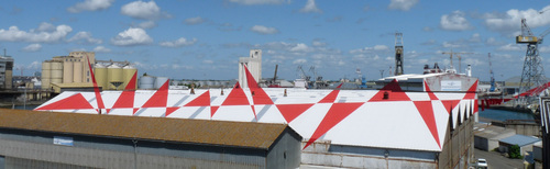 Suite de triangles, Felice Varini, Saint-Nazaire