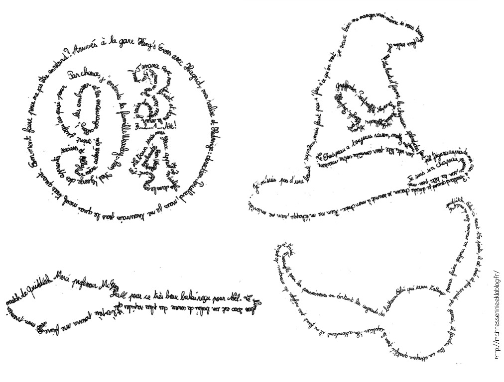 Calligrammes Harry Potter Maitresse Ninie