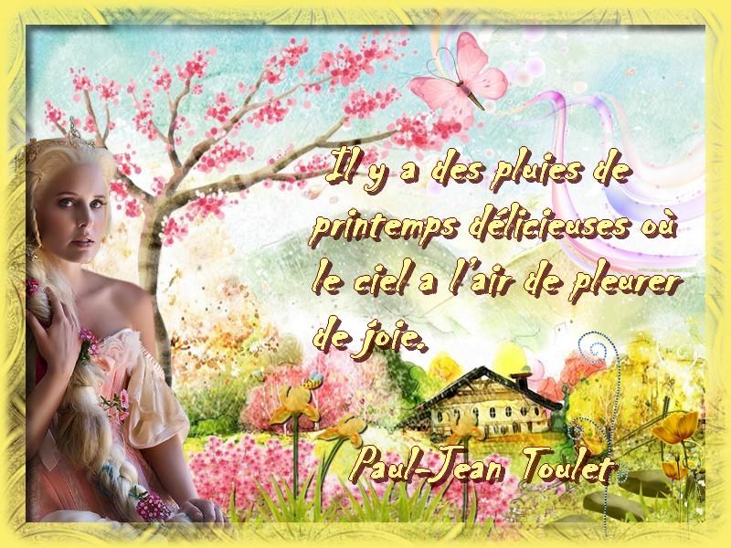 citation illustrée : une pluie de printemps - poème-peintures-vidéo ...