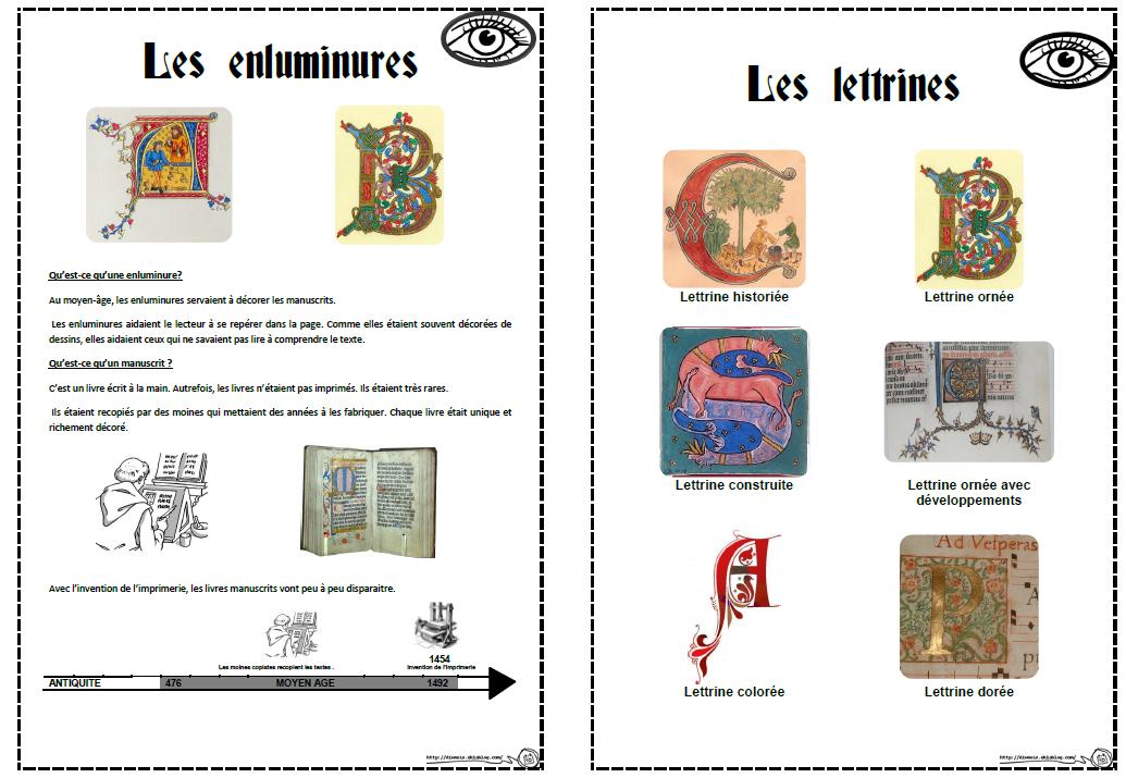 Enluminures Et Lettrines Dix Mois