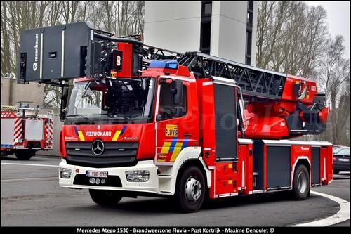 Nouvelle auto-échelle pour les pompiers de Courtrai