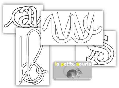 Coloriage de lettres mêlées