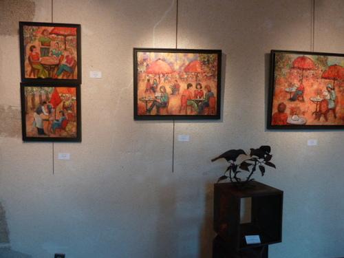 Mes tableaux à la Prébendale à St Pol de Léon