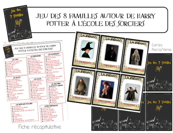 Jeu Des 7 Familles Harry Potter Maitresse Ninie