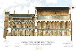 4- Mont-Saint-Michel: L'abbaye